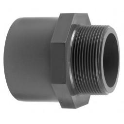 PVC VDL Draadeind Zes/achtkant, grijs