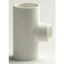 PVC T-Stuk 90º Wit, 1x draad 2x lijm