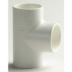 PVC T-Stuk 90º Wit, Standaardmaten