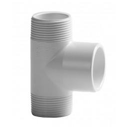 PVC T-Stuk 90º Wit, 2x draad 1x lijm