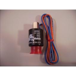 Spoel Solenoid 3 weg 24 vAC 2.2watt S390-3D blauworanje